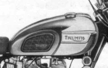 83 1798 Late 60s Triumph Bonnie Gas Tank